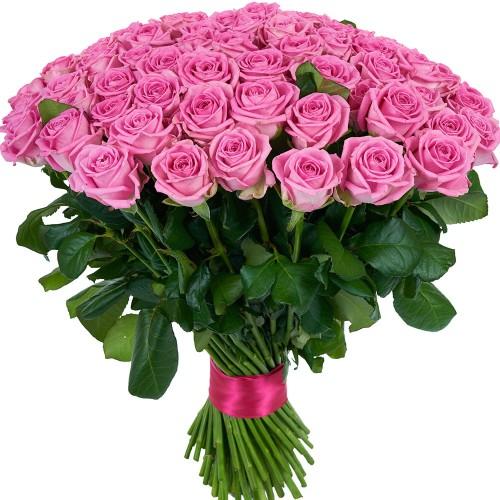 Купить на заказ Букет из 101 розовой розы с доставкой в Аральске