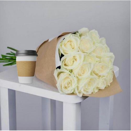 Купить на заказ Кофе с цветами с доставкой в Аральске
